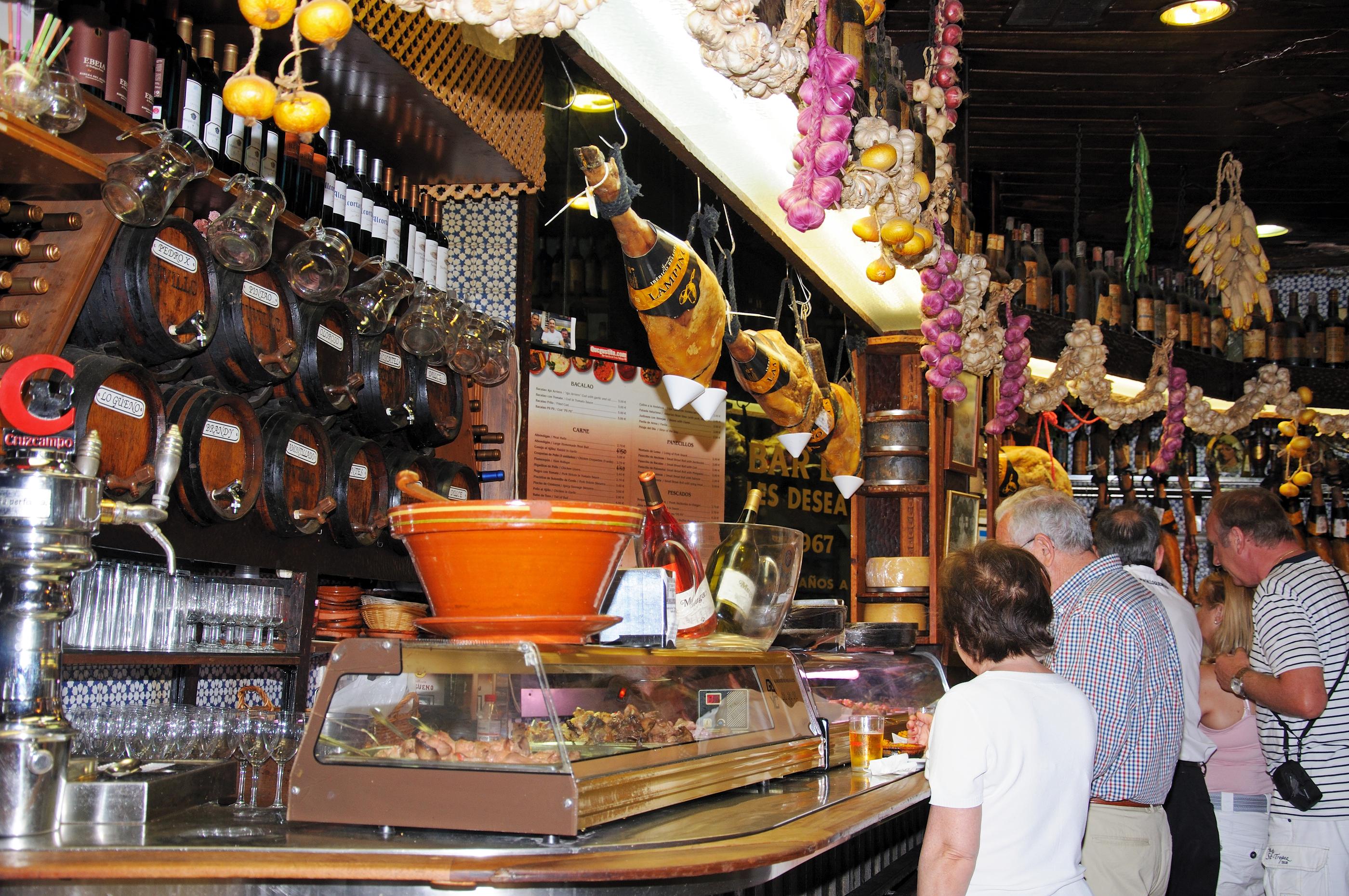 Tapas bar, Monda Spain.