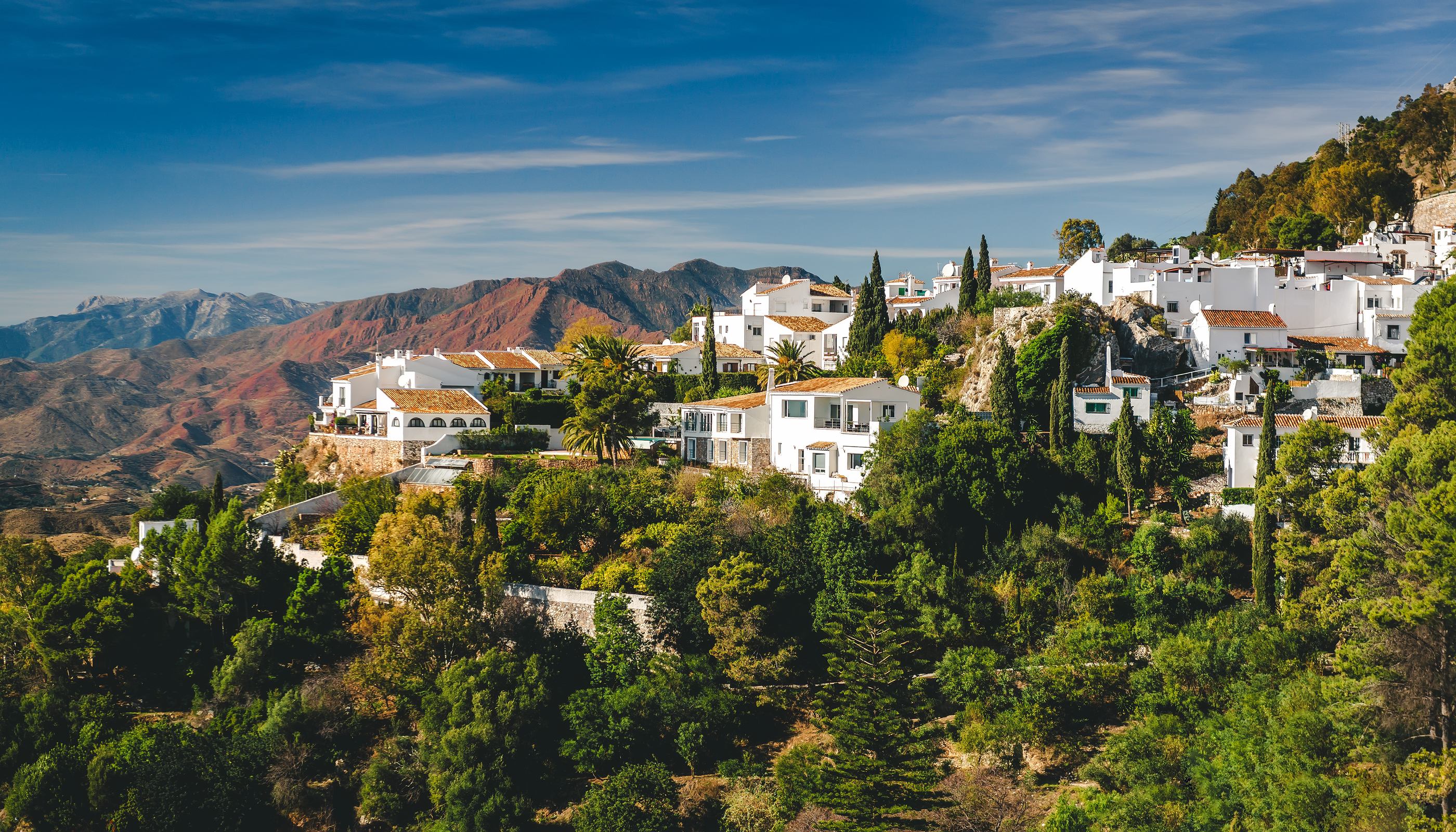 Charming Little White Village Of Mijas Pueblo. Costa Del Sol, Andalusia