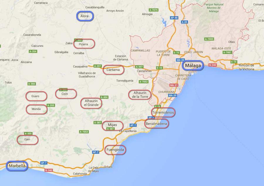 regio Málaga - Marbella - Álora