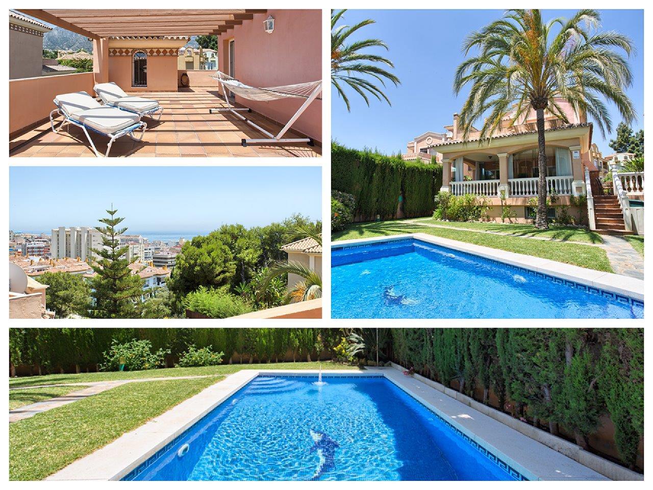 Vrijstaande villa in Marbella centrum te koop