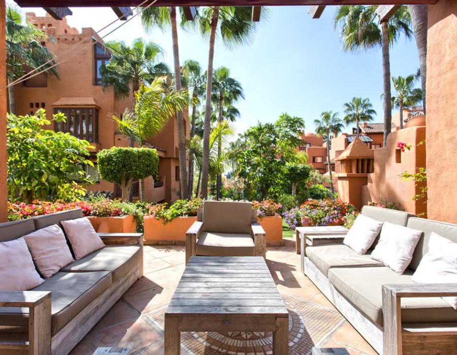 Terrace of an apartment in Puerto Banus