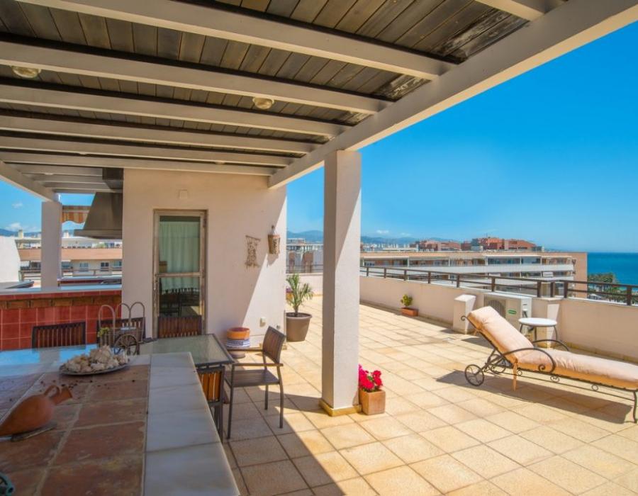 Roof terrace in Malaga